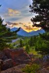 Sunset Over Crandell Mountain